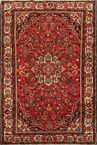 Vintage Floral Red Lilian Persian Area Rug 5x8