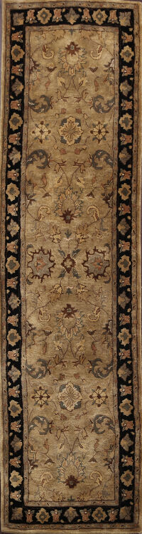 Floral Agra Indian Oriental Runner Rug 3x8