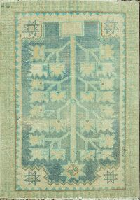 Geometric Oushak Turkish Area Rug 1x2
