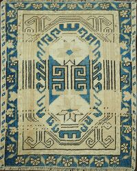 Square Geometric Oushak Turkish Area Rug 2x2