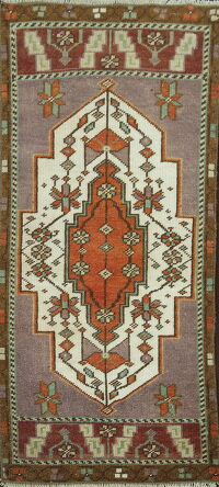 Geometric Anatolian Turkish Oriental Area Rug 2x3