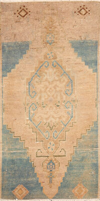 Muted Anatolian Turkish Area Rug 2x3