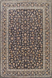 Vintage All-Over Floral Kashan Persian Area Rug 10x13