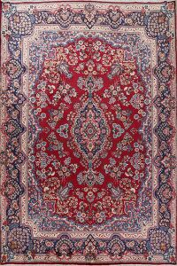 Floral Red Yazd Persian Area Rug 10x13
