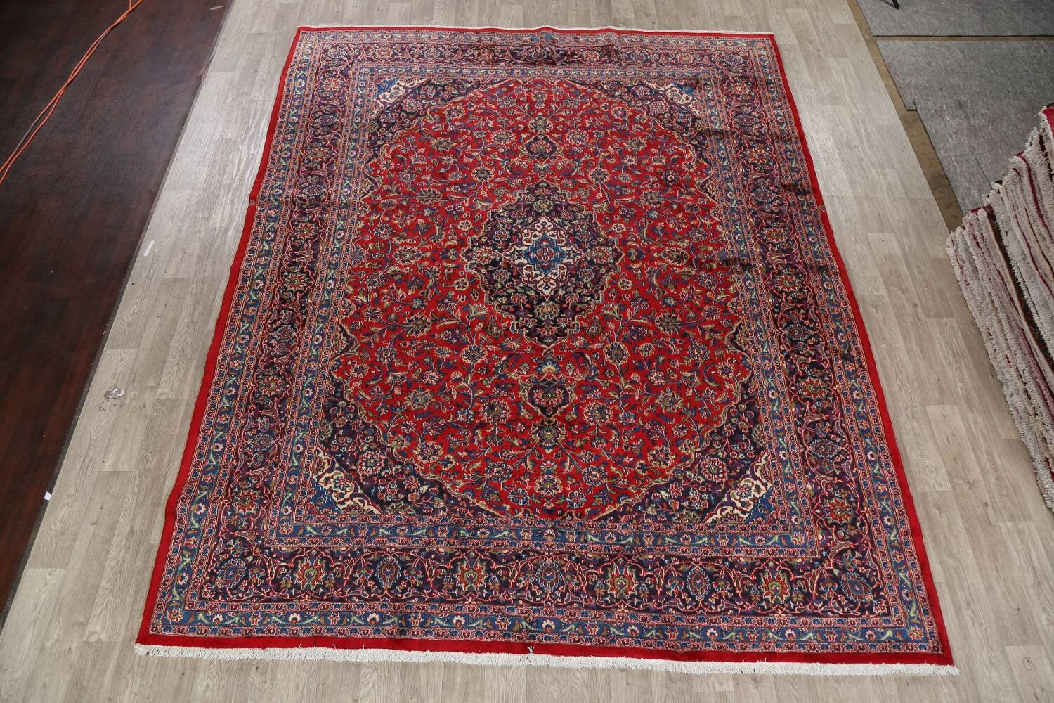 Vintage Floral Red Mashad Persian Area Rug 10x12 image 2
