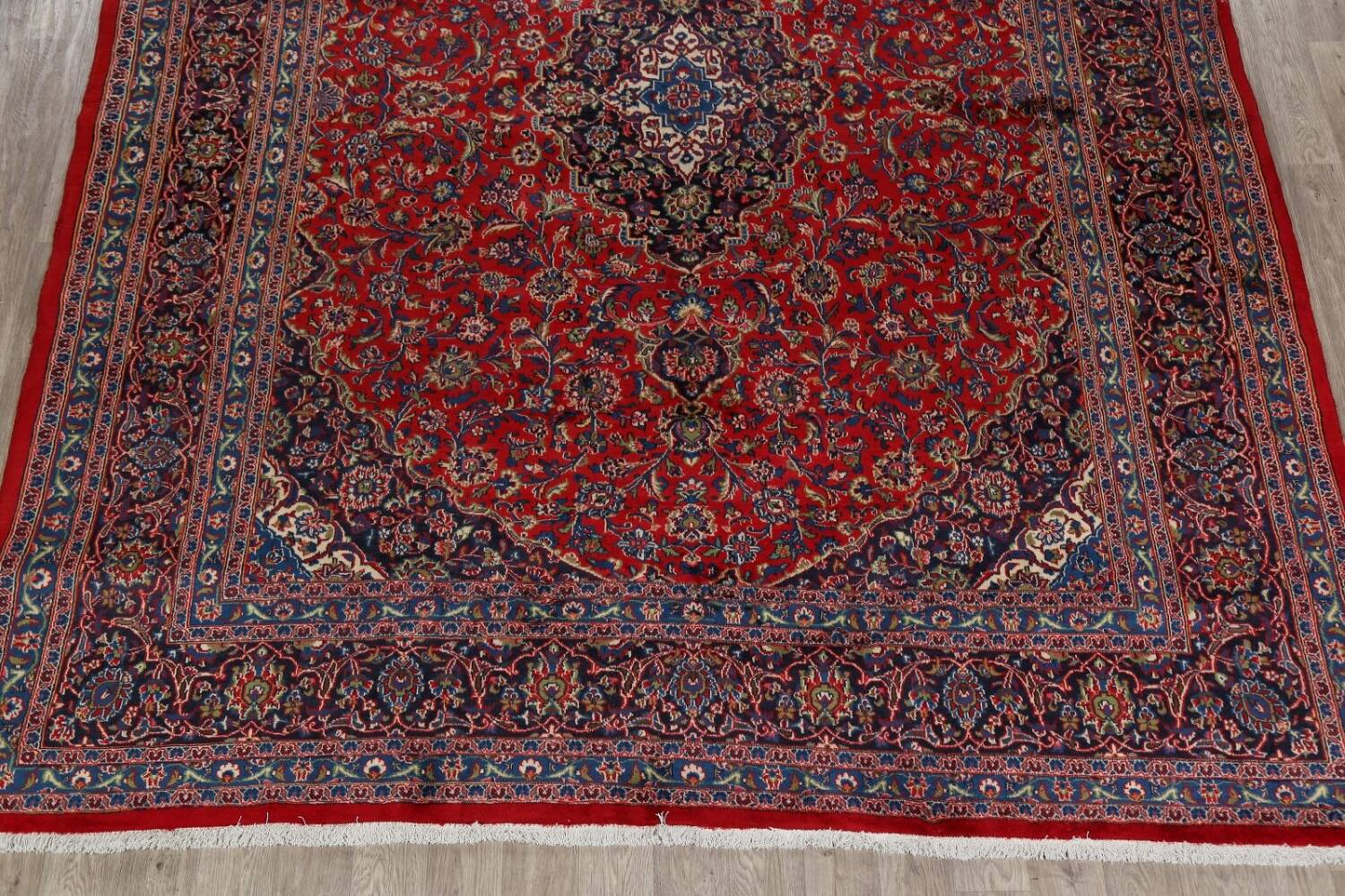 Vintage Floral Red Mashad Persian Area Rug 10x12 image 8