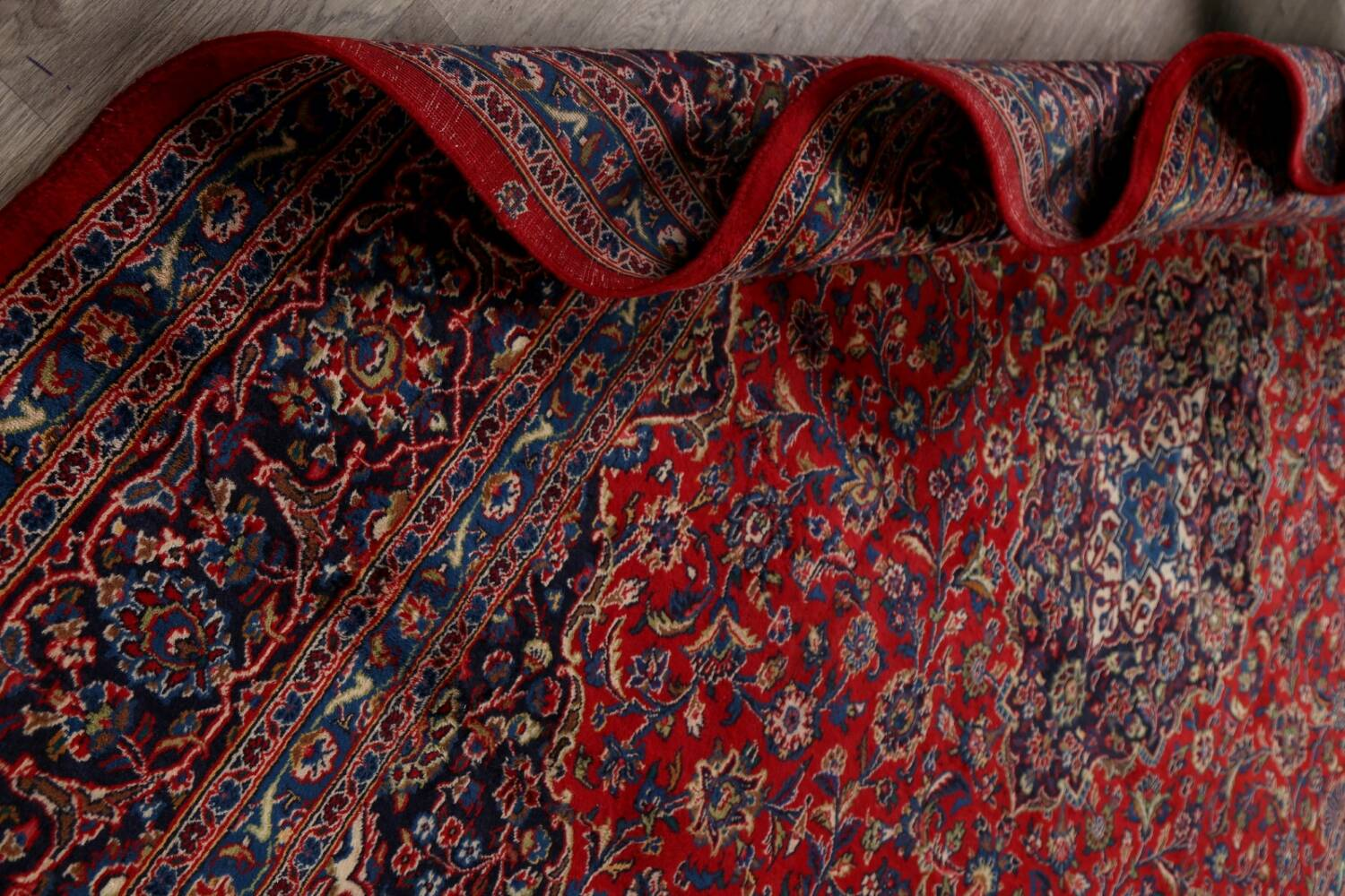 Vintage Floral Red Mashad Persian Area Rug 10x12 image 19