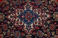 Vintage Floral Red Mashad Persian Area Rug 10x12 image 12