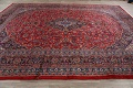 Vintage Floral Red Mashad Persian Area Rug 10x12 image 16