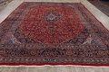 Vintage Floral Red Mashad Persian Area Rug 10x12 image 17