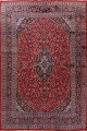 Vintage Floral Red Mashad Persian Area Rug 10x12 image 1