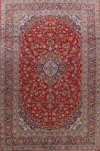 Traditional Floral Red Kashan Persian Area Rug 9x14