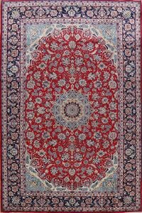 Vintage Floral Red Najafabad Persian Area Rug 8x12