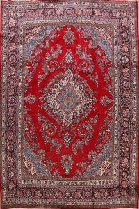 Vintage Floral Red Shahbaft Persian Area Rug 11x13
