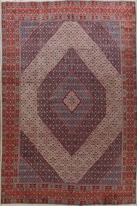 Vintage Geometric Mood Persian Area Rug 10x13