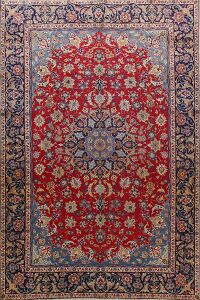 Vintage Floral Red Najafabad Persian Area Rug 9x12