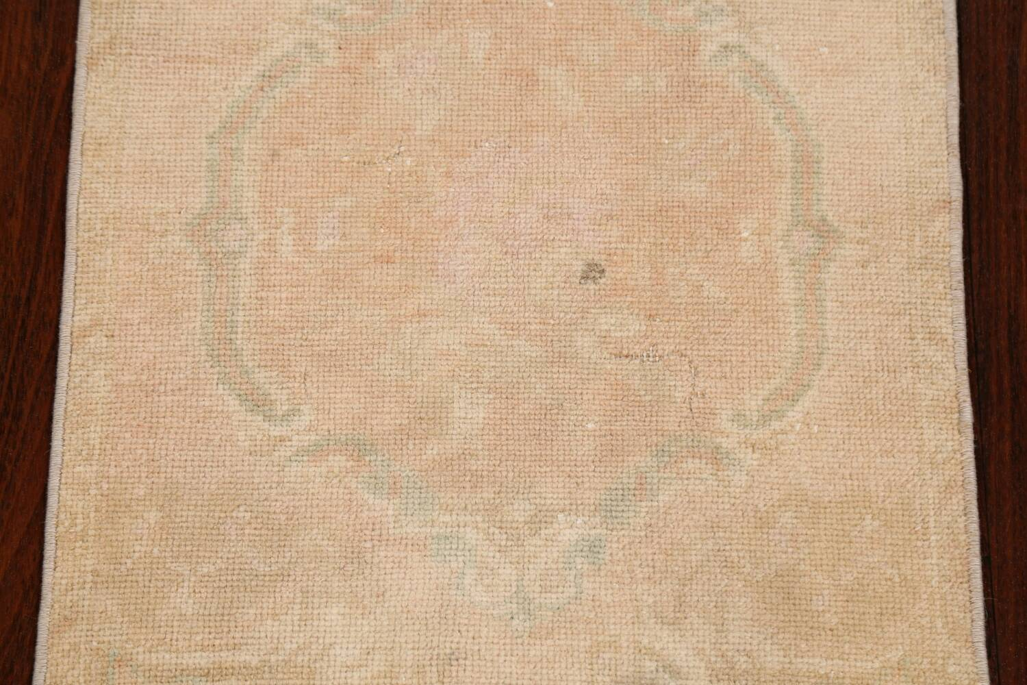 Muted Pale Orange Anatolian Turkish Area Rug 2x3 image 3