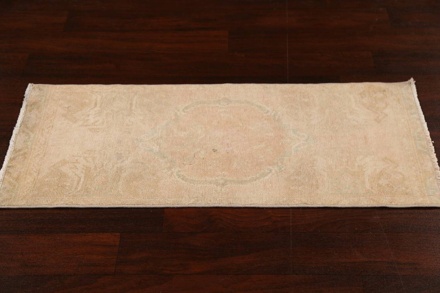 Muted Pale Orange Anatolian Turkish Area Rug 2x3 image 15