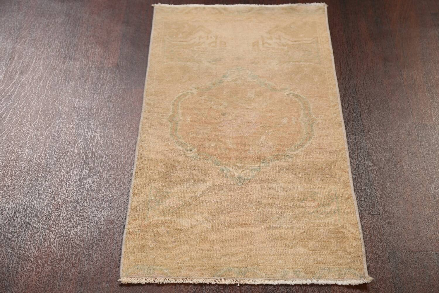 Muted Pale Orange Anatolian Turkish Area Rug 2x3 image 16
