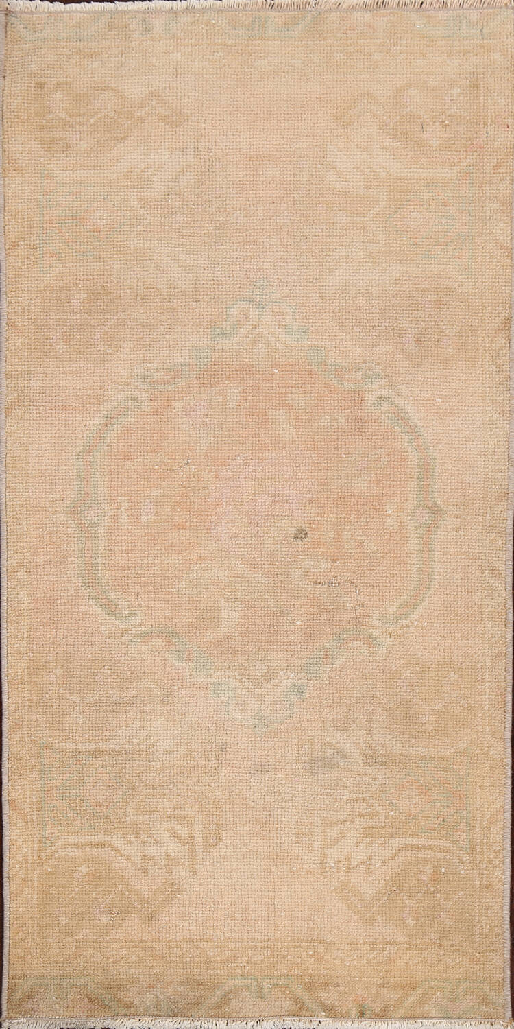 Muted Pale Orange Anatolian Turkish Area Rug 2x3 image 1