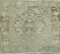 Muted Square Oushak Turkish Area Rug 2x2