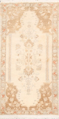 Geometric Anatolian Turkish Oriental Area Rug 2x4