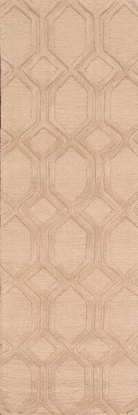 All-Over Beige Moroccan Trellis Oriental Runner Rug 3x8
