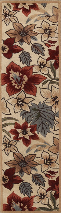 All-Over Floral Agra Oriental Runner Rug 3x10