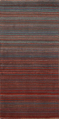 All-Over Stripe Gabbeh Oriental Area Rug 3x6