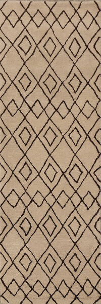 All-Over Geometric Moroccan Trellis Oriental Runner Rug 3x8