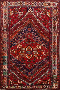 Tribal Geometric Kashkoli Persian Area Rug 5x9