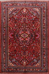 Floral Red Lilian Persian Area Rug 7x11