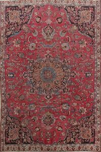 Floral Red Mashad Persian Area Rug 6x9