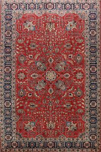 Antique Geometric Tabriz Persian Area Rug 7X10