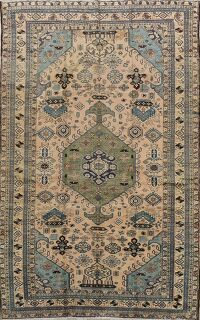 Tribal Geometric Ardebil Persian Area Rug 5x9
