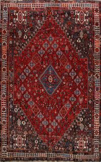 Antique 100% Vegetable Dye Lori Persian Area Rug 7x10