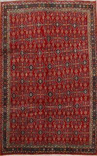 Vegetable Dye All-Over Red Kashkoli Persian Area Rug 7x10