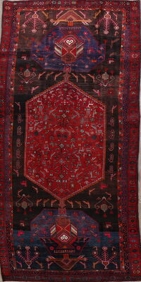 Vintage Tribal Geometric Bidjar Persian Runner Rug 5x14