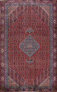 Geometric Red Ardebil Persian Area Rug 6x10