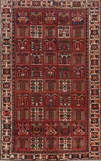 Antique Garden Design Bakhtiari Persian Area Rug 6x10