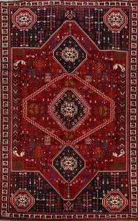 Vintage Tribal Geometric Abadeh Persian Area Rug 6x10