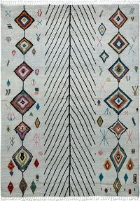 Tribal Diamond Moroccan Area Rug 8x10