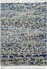 Modern Abstract Moroccan Area Rug 4x5