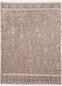 Brown Tribal Moroccan Oriental Area Rug 9x12