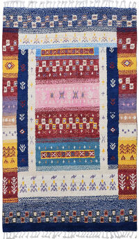 Tribal Patchwork Moroccan Area Rug 5x9