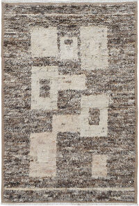 Thick Plush Geometric Shaggy Moroccan Area Rug 6x9