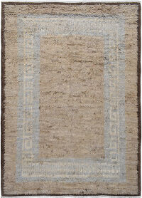Thick Plush Bordered Shaggy Moroccan Area Rug 8x12