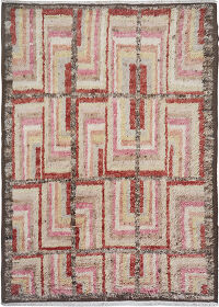 Thick Plush Geometric Shaggy Moroccan Area Rug 9x11