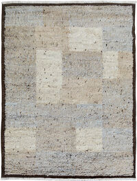 Checkered Plush Shaggy Moroccan Area Rug 6x8