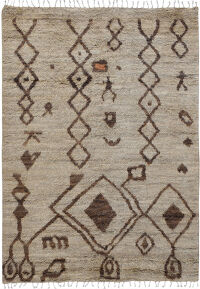 Thick Plush Tribal Shaggy Moroccan Area Rug 6x9